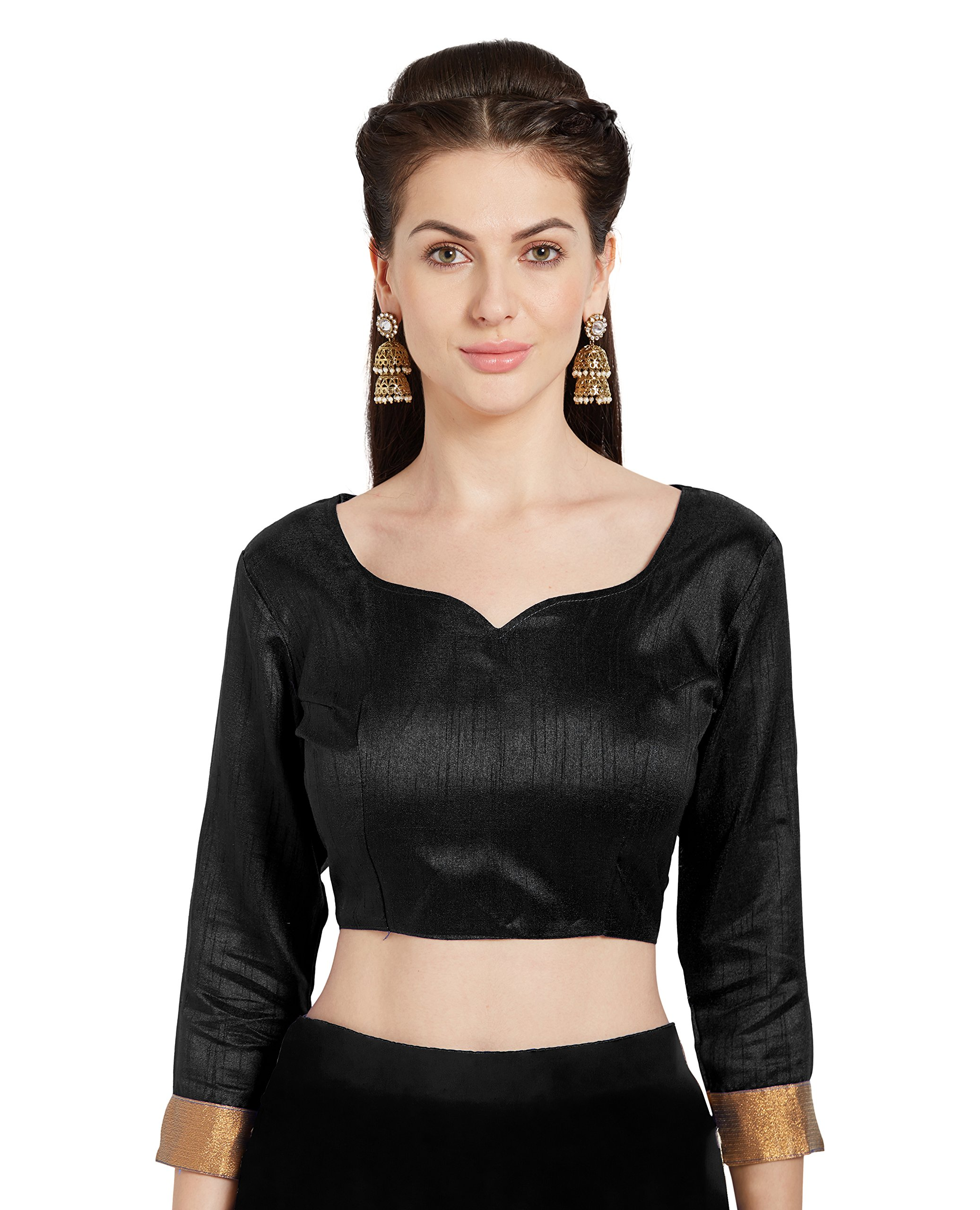 b9f0d05cd84037 Get Quotations · Women s Art Silk Readymade Saree Blouse Stylish Choli  Mirchi Fashion Top