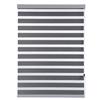 Interior home decor window treatments grey and white living room curtains Zebra Blinds