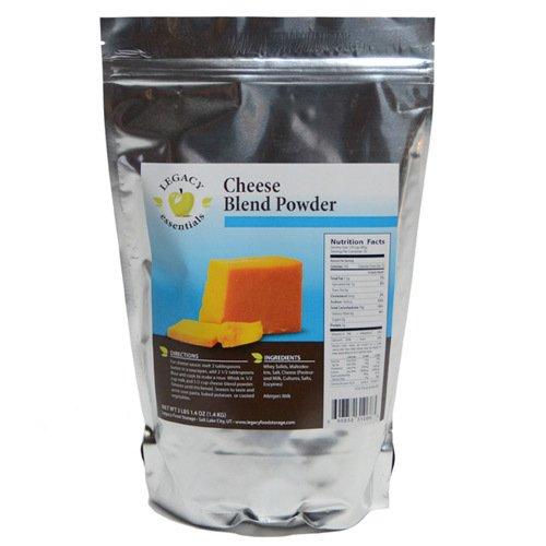 Legacy Essentials Long Term Dried Cheese Powder - 15 Year Shelf Life Powdered Cheese Blend for Emergency Food Storage Supply (Quantity 1)