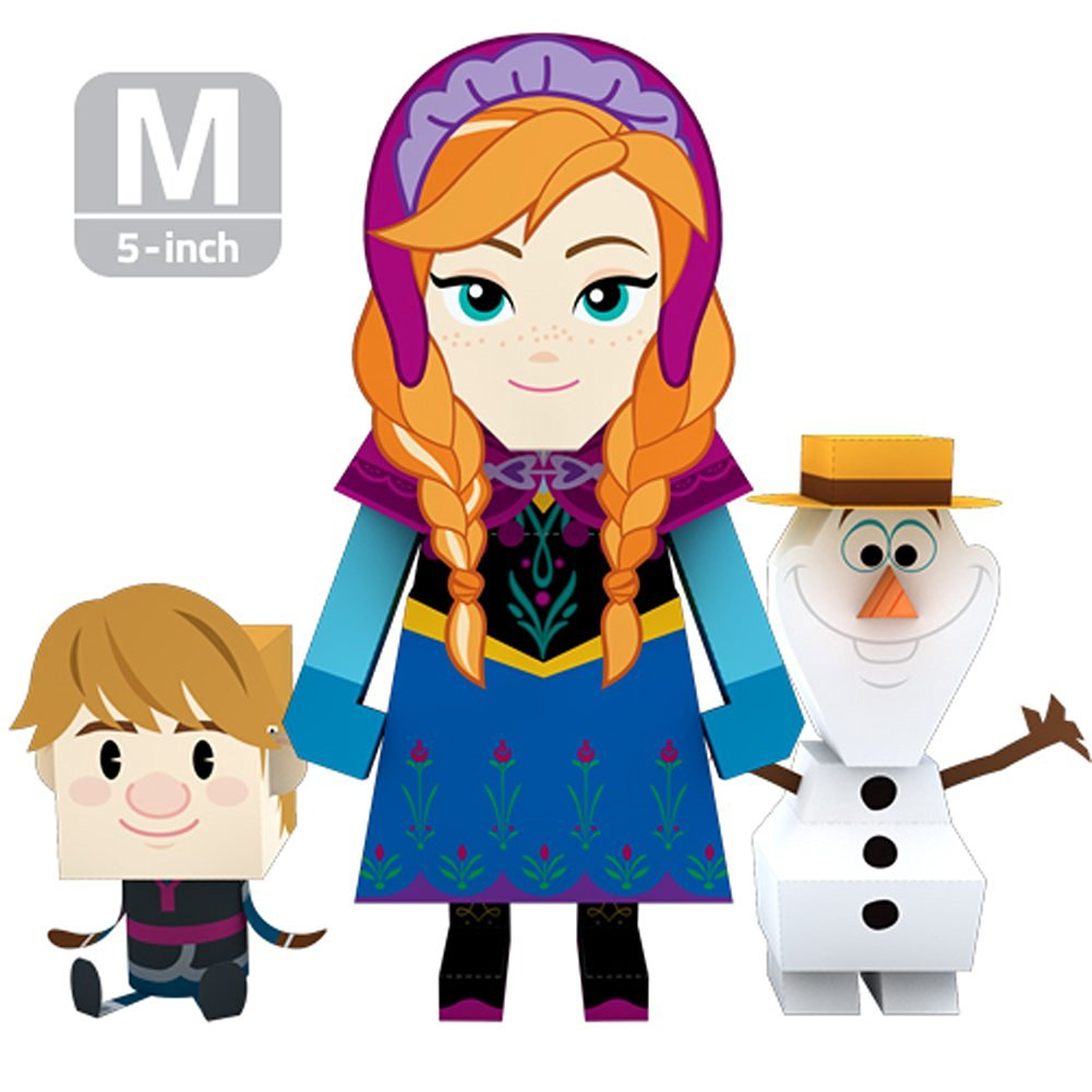 MOMOT Paper Craft Toy - Disney ANNA 5-inch (M Size 13cm)