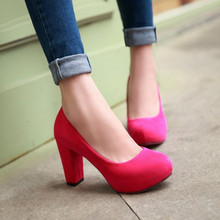 2015 Fashion Wedding Pumps Sexy  High Heel Shoes Brand Design Red Bottom Platform Women Party Shoes Big size