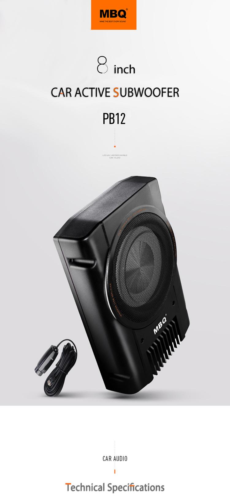 Mbq Sound System Upgrade Powered B Speaker 8 Inch 10 Inch ... on