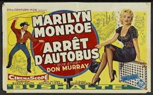 Unframed poster Bus Stop Movie F Marilyn Monroe Arthur O'Connell Hope Lange Don ...27x40inch(69x102cm)