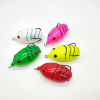SW soft fishing lure 5 colors top water jump frog lure with spinner spoon hook