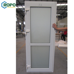 CE UPVC PVC Casement Swing Exterior French Door With Security Screen Blind