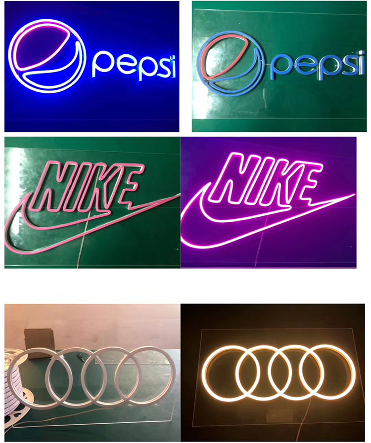 High quality 12V waterproof IP68 led flexible 2835 RGB 5050 silicone led neon rope for wholesale neon signs