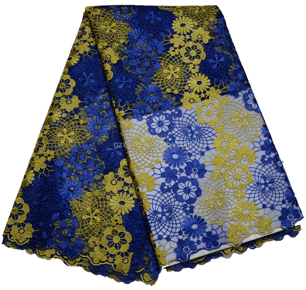 Tokay Cupion Lace Fabric Nigeria Guipure Lace For Fashion Women Clothing XZ128036c-1