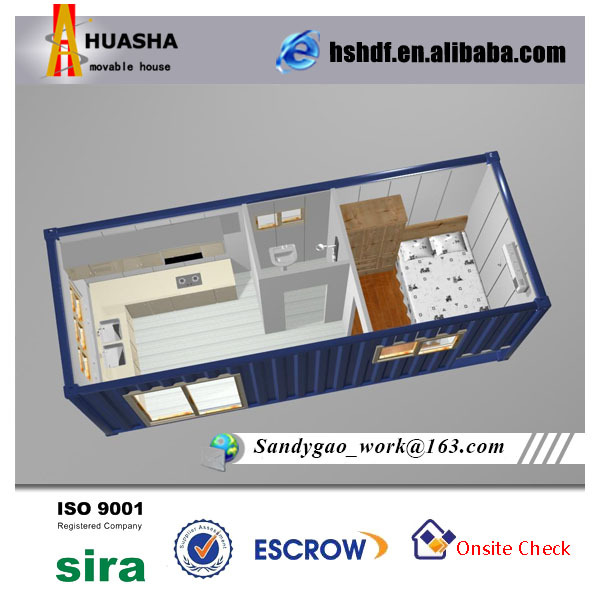 20ft Container House With Bathroom And Kitchen For Sale