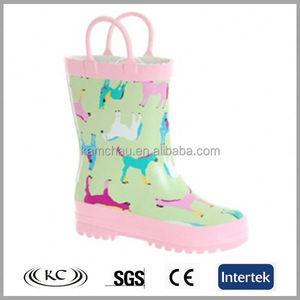 cheap best selling print animal rain boot plastic