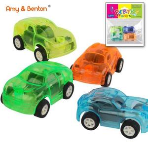 4PCS cheap mini plastic pull back car toys with good quality