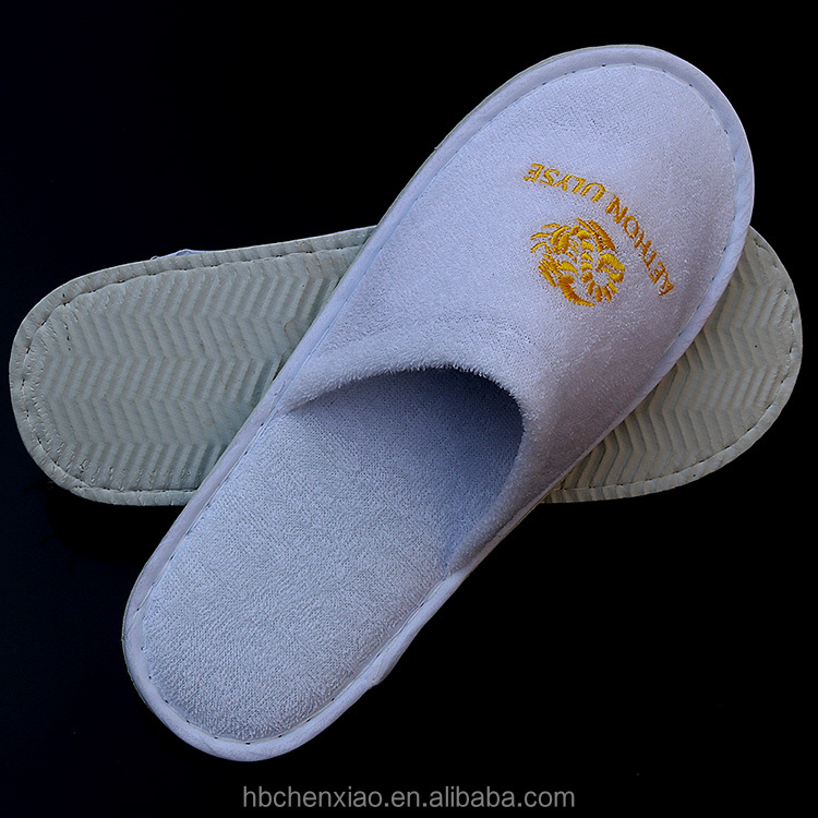 terry towel disposable hotel slipper with bargain price