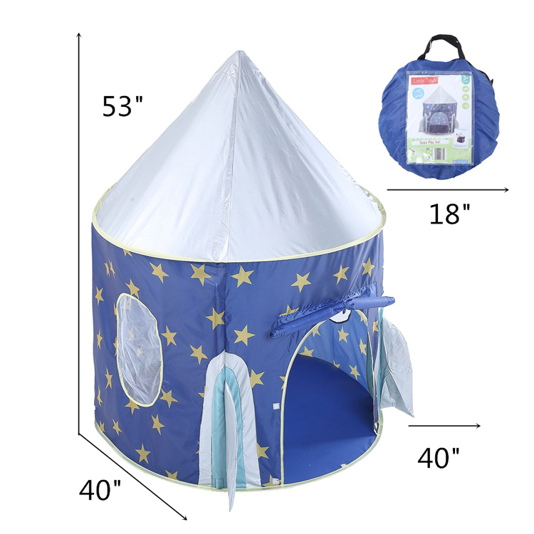 Foldable teepee princess kids toy ocean ball house star rocket portable prince castle play tent