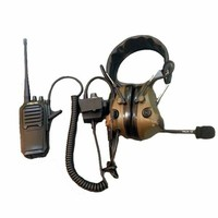 (E8R3B-M4-P) Professional Aviation noise reduction headset Military earphone for walkie talkie