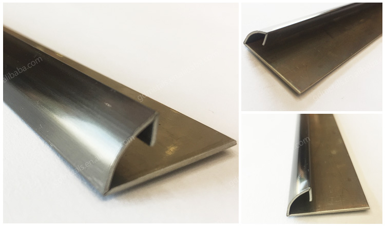 Custom  Metal Decorative Stainless Steel Door Frame Trim Ceiling strip.