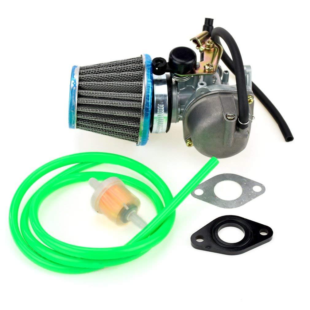 HIAORS PZ19 19mm Carburetor 35mm Air Filter Intake Gasket Fuel line Filter for 50cc 70cc 90cc 110cc X15 X18 R Nitro X19 SSR Pocket Bike Baja Roketa Kazuma Sunl NST ATV Quad