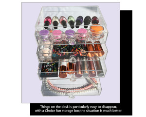 customized acrylic makeup cosmetic box