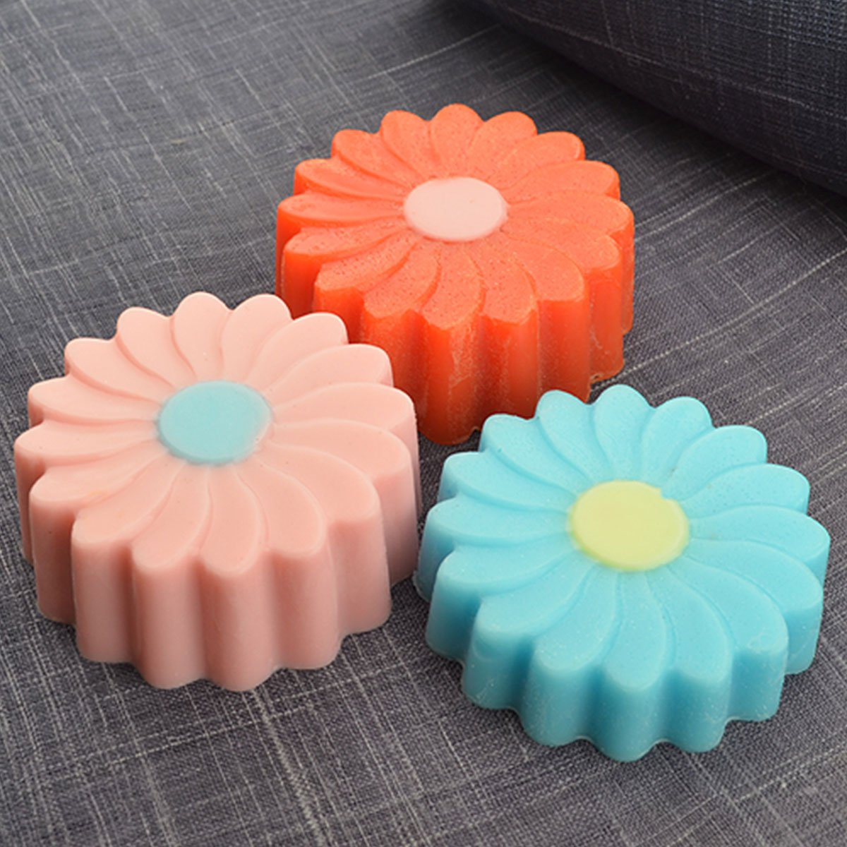Chawoorim Flower Windmill Silicone Molds Soap Candle Making Home Baking