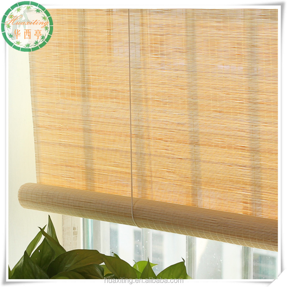 Matchsticks Thin Bamboo Roll Up Blinds