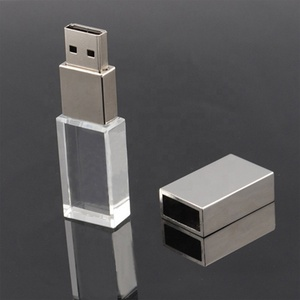 Wholesale High Speed 32GB Crystal USB 3.0 Flash Drive with LED Light