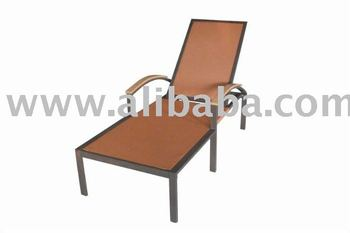 Hotel commercial balcony furniture sun lounger sling for Chaise furniture commercial