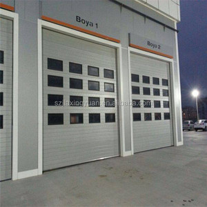 China Commercial glass 12 x 7 garage door