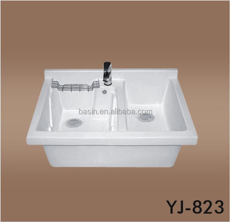 Tinas De Baño De Ceramica: lavabo de porcelana sanitaria lavabo de cerámica gabinete doble tina
