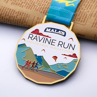 custom malaysia running marathon medal enamel decorative arts & crafts