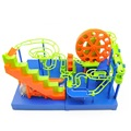 Free shipping 2 in 1 DIY Electronic with Music Construction Marble Race Run Maze Balls Track