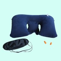 Factory price good quality inflatable travel pillow set