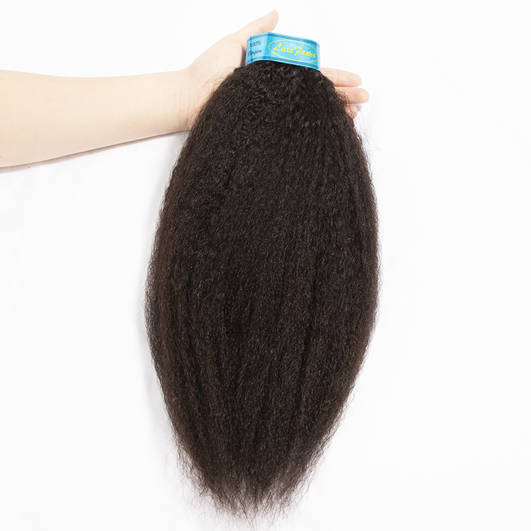 Free Shipping Brazilian KINKY STRAIGHT wave Hair Weave Bundles Natural Color 100% Human Hair 1/3 Piece Remy Hair Extension