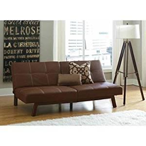 Delaney Split Back Futon Sofa Bed Brown Modern Design And Color Will Blend