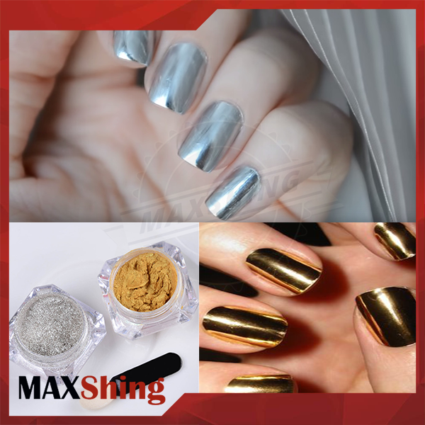 Factory chrome effect nail polish pigment, mirror chrome nails powder