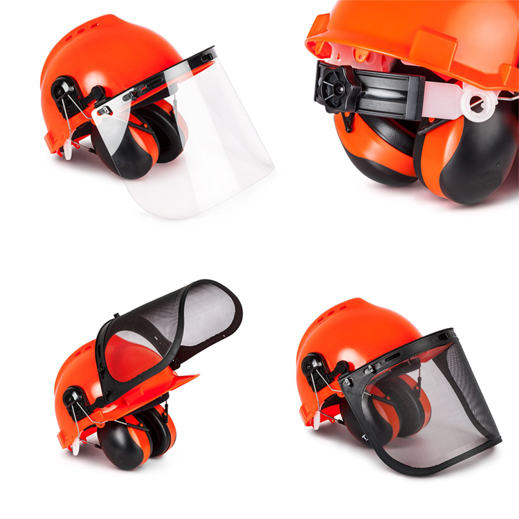 Industrial Safety Helmet with Visor and Earmuffs