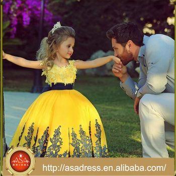 Sma43 Prinzessin Kinder Party Gold Kleid Engel Spitze Pakistan ...
