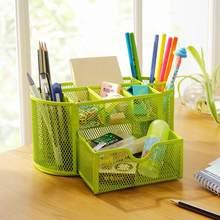 Металлический пенал-органайзер, сетчатый стол-органайзер, стол, 9 ячеек, коробка для хранения ювелирных изделий, ящик, подставка для ручек и ...(Китай)