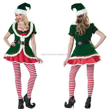 2015 Best Seller Wholesale Cheap Christmas Elf Costumes for Sale