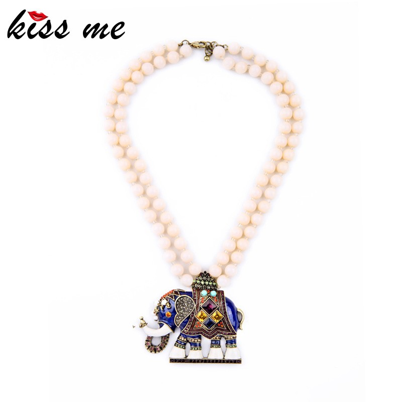 New Epoxy Elephant Pendant Nifty Latest Designs Beads Necklaces