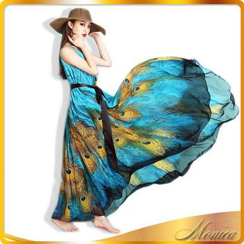 06ac89d0048f13 zijden chiffon jurk patronen pauw jurk lange strand jurk nieuwste jurk  ontwerpen voor dames