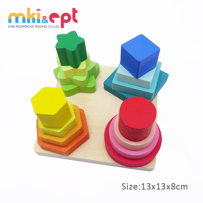 Wooden Shapes Sorter Toys kids Education Block Toys For 36 Monthes Baby.jpg