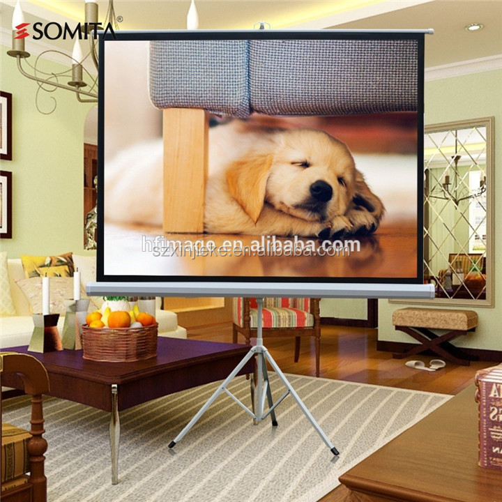 Modern tripod style home theater screen 100 inch 4:3 aspect ratio