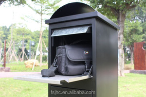 Foshan JHC/Large Capacity Outdoor Metal Pillar Mailbox/Parcel box