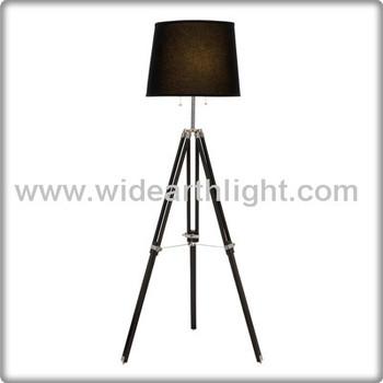 Ul Cul Listed Unique Wood And Metal Bedroom Floor Lamp Black ...