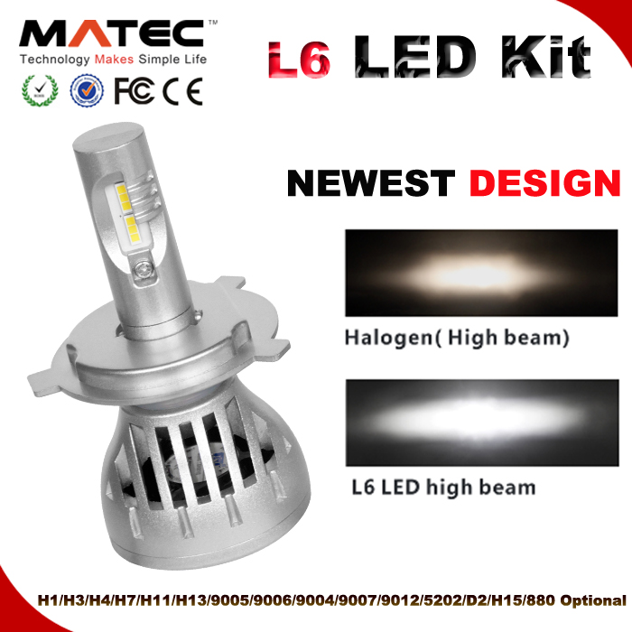 Excellent light beams L6 60W 6000LM auto spare parts for japanese vehicles car headlight H4 led headlight car parts