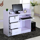 Unique design customized size FR-MDF PD material salon furniture standing reception desk