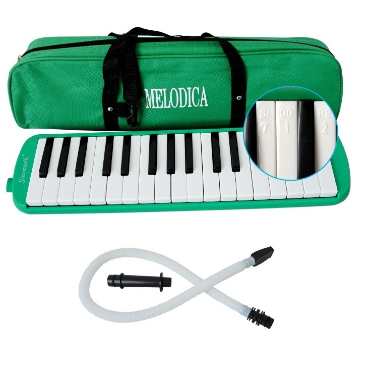 Sinomusik brand Green Color 32/37 key melodica Melodica Pianica music gift <strong>craft</strong> for student