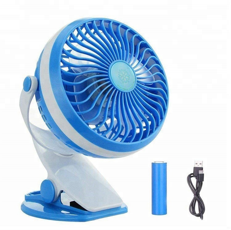 Battery Operated Clip on Portable Fan, USB Rechargeable Mini Desk Fan baby Stroller Fan