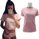 2018 Europe and America style custom printed pink color casual ladies t-shirt print design