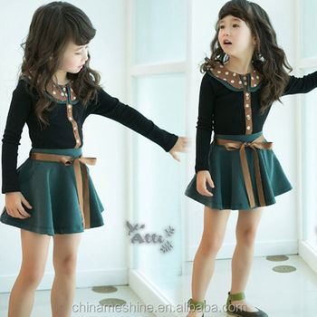 Ms60154c Fancy Clothing For Kids Fashion Latest Fall Dress Set Kids