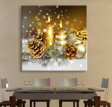 Romantic Christmas Led Unframed Canvas Art With Remote Control