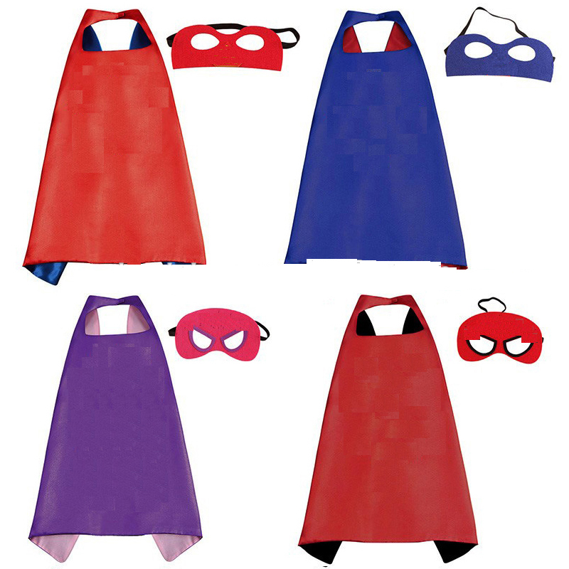 Wholesale halloween Children custom <strong>capes</strong> for <strong>kids</strong> super hero <strong>cape</strong> and mask